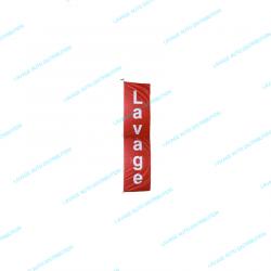 """Bannière """"LAVAGE"""" 4 x 1 mètres"""